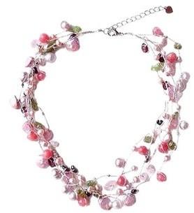 Novica Handmade Silk 'Heritage' Pearl and Rose Quartz Beaded Necklace