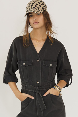 Blank NYC Carver Utility Jumpsuit By in Black Size S