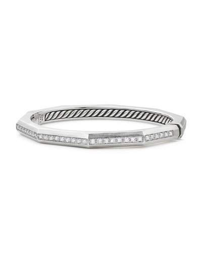 David Yurman Stax Faceted Cuff Bracelet with Diamonds