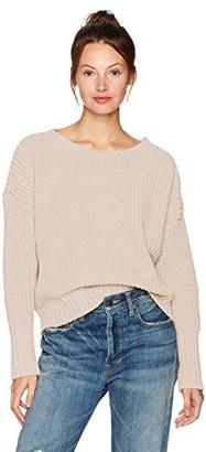 Moon River Women's Chunky Drop Sleeve Sweater