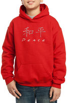 LOS ANGELES POP ART Los Angeles Pop Art The Word Peace In 77 Languages Hoodie-Big Kid Boys