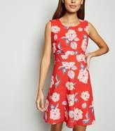 New Look Mela Floral Sleeveless Skater Dress