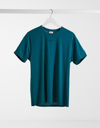 Reebok TS AC solid move t-shirt in heritage teal