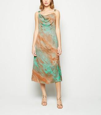 New Look Tie Dye Satin Cami Dress