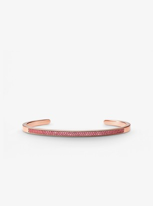 Michael Kors 14K Rose Gold-Plated Sterling Silver Pave Nesting Cuff