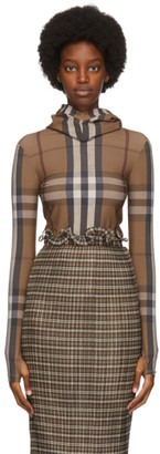 Burberry Beige Check Belle Turtleneck