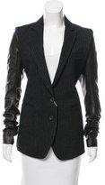 LGB Leather-Accented Wool Blazer w/ Tags