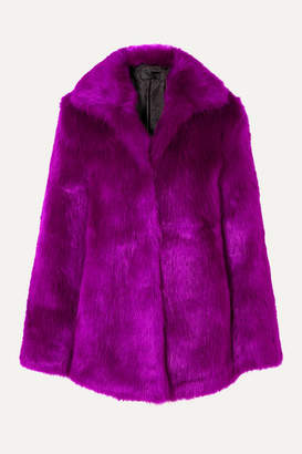 RtA Kate Faux Fur Coat - Purple