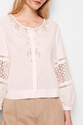 French Connection Esther Cotton Cutwork Top