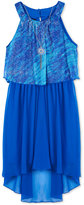 Amy Byer Popover High-Low Maxi Dress & Necklace Set, Big Girls (7-16)
