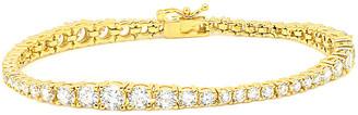 Crislu 18K & Silver Cz Tennis Bracelet