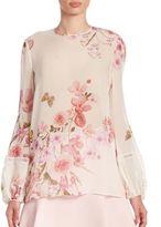 Giambattista Valli Floral Printed Silk Blouse