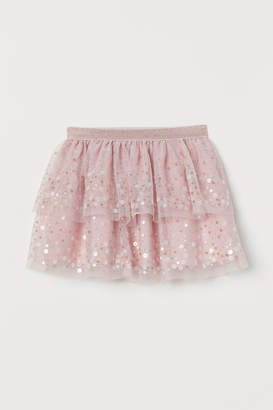 H&M Tulle Skirt with Sequins - Pink