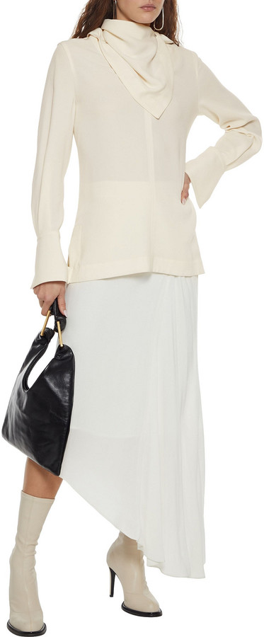 Thumbnail for your product : 3.1 Phillip Lim Convertible Crepe Blouse