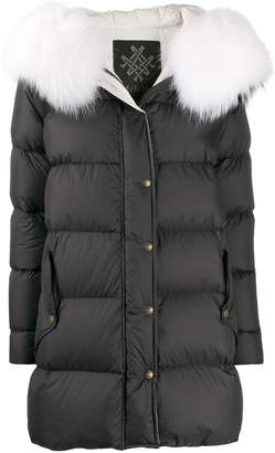 Mr & Mrs Italy straight fit puffer coat