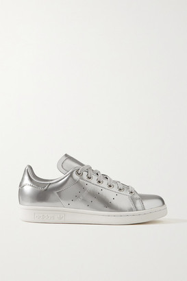 adidas Stan Smith Metallic Leather Sneakers - Silver