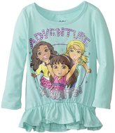 Nickelodeon Little Girls' Dora and Friends Adventure Awaits Girls Peplum Top