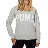 Puma Ladies' Long Sleeve Crew-Light Gray