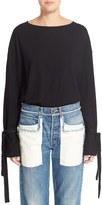 Helmut Lang Women's Tie Cuff Wool Sweater