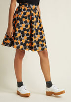 Retrolicious Act Supernatural Cotton A-Line Skirt in 2X