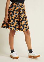 Retrolicious Act Supernatural Cotton A-Line Skirt in XL