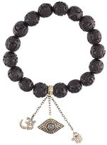 Loree Rodkin carved beaded diamond charm bracelet