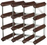 12-Bottle 3x3 Wine Rack in Stained Pine