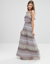 Lavand Linear Print Maxi Dress