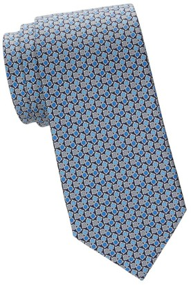 Salvatore Ferragamo Tricolor Gancini Silk Tie