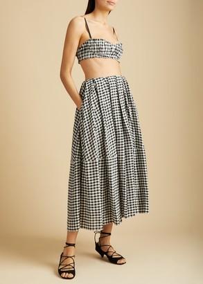 KHAITE The Meryl Skirt in Gingham
