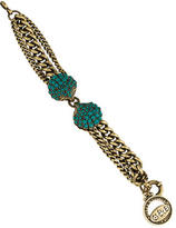 Giles & Brother Turquoise Double Seashell Chain Bracelet