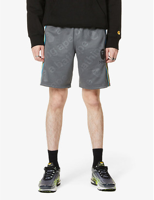 A Bathing Ape Side tape jersey shorts