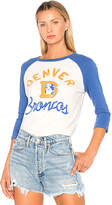 Junk Food Clothing Broncos Raglan in Blue. - size L (also in M,S,XS)