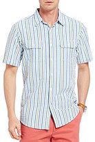 Daniel Cremieux Striped Seersucker Short-Sleeve Woven Shirt