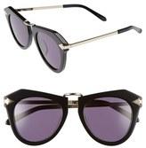 Karen Walker Women's Alternative Fit One Orbit - Arrowed By Karen 50Mm Sunglasses - Black/ Gold