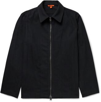 Barena Striped Wool-Blend Blouson Jacket
