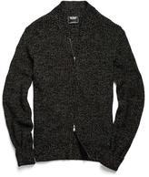 Todd Snyder Varsity Zip Sweater in Black