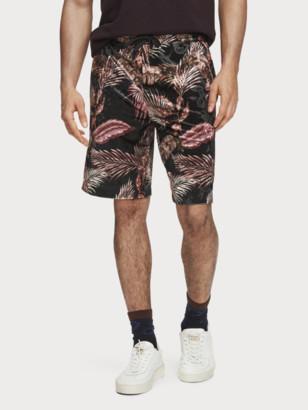 Scotch & Soda Printed Velour Shorts | Men