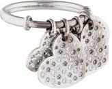 Christian Dior 18K Diamond Heart Charm Ring