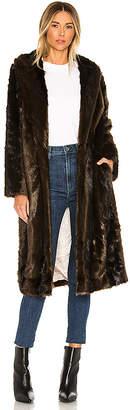 L'Academie The Fleurette Faux Fur Coat