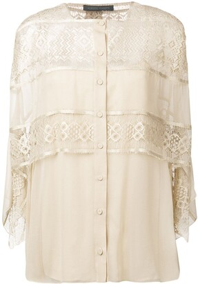 Alberta Ferretti Layered Lace Blouse