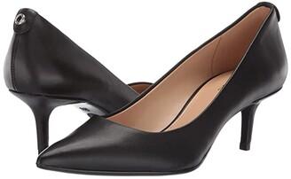 MICHAEL Michael Kors MK-Flex Kitten Pump (Black Vachetta) Women's 1-2 inch heel Shoes