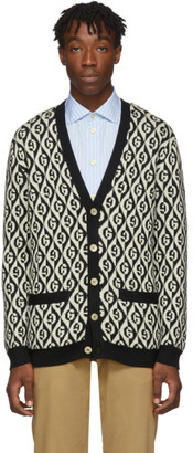Gucci Black and White G Rhombus Cardigan