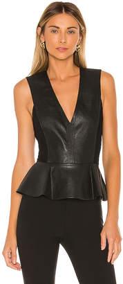 BCBGMAXAZRIA Faux Leather Bodysuit