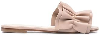 Fabiana Filippi Ruffle Leather Mule Sandals