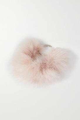 Dries Van Noten Silver-tone And Feather Necklace - Blush