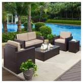 Crosley Palm Harbor 5pc All-Weather Wicker Patio Conversation Set