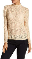 Helmut Lang Long Sleeve Lace Top