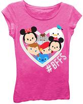 Freeze Hot Pink Tsum Tsum '#BFFS' Tee - Girls