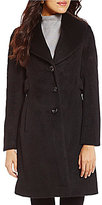Pendleton Shawl Collar Button Front Lined Wool Blend Walker Coat
